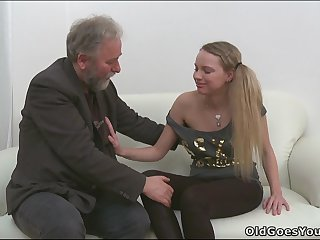Sweet Jane threesome with old dude and other bloke
