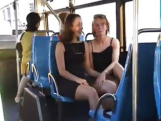 Upskirts from ladies on bus
