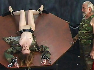 Hardcore brunette being impaled in her tight snatch