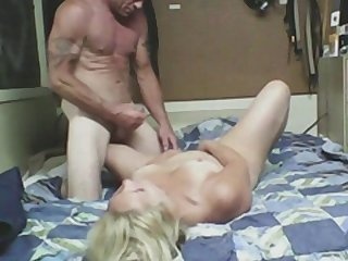 Sexy glamorous blonde and big dick
