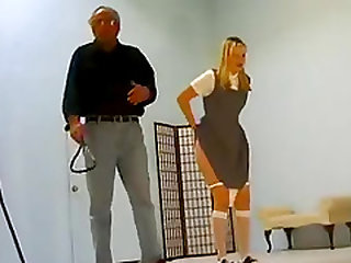 Students gets spanked by teacher