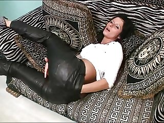 Kimberly - Wild Orgasm in Miss Sixty Leather Pants