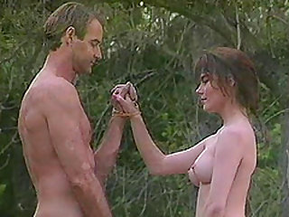Great shag in a forest with a stunning brunette sex bomb