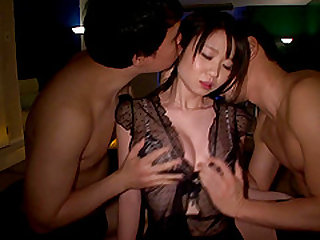 Stunning Aika Yumeno wants to be plowed by two hot lovers