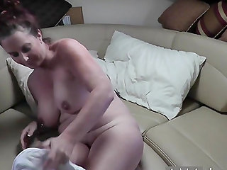Me and my husband fucked hard on a sofa