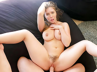 Stepsis Persuades Stepbrother Into Oily Titty Fuck