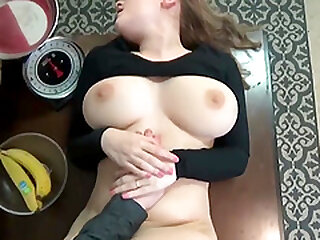 Her pussy grips on my dick so nicely while she bounces up and down
