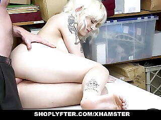 ShopLyfter - Skinny Blonde Caught And Fucked By The Security