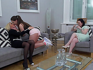 Mature blonde lesbian Ilsa S. gets her pussy licked by a brunette