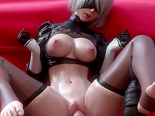 Sexy babe with blindfolds over her eyes gets that big pole inside her perfect cunt