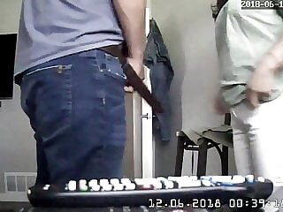 ipcam caught couple fucking right on the chair