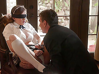 tied and horny girl Devon Green gets her pussy banged by a dude