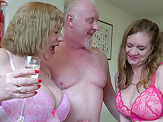 Lily May has sex with Trisha and her boyfriend in hardcore threesome