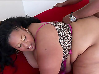 Black BBW Pantera loves BBC in her wet fat juicy ebony pussy