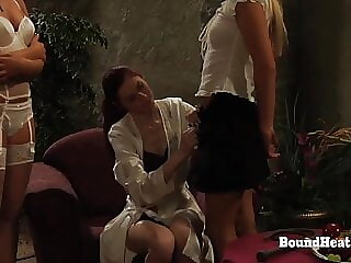 Disappeared On Arrival:Lesbian Slave Bent Over And Whipped