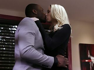 Blond babe Sierra Nicole is cheating on her husband with big black lover