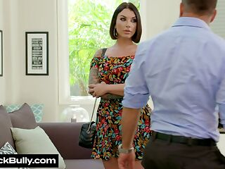 Delicious milf Ivy Lebelle gives a great blowjob and gets her muff nailed