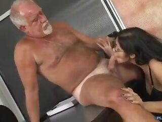Horny Boss fuck secretary in the office