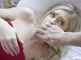 Horny step daddy fucks lovely 19 yo stepdaughter and cums in her mouth