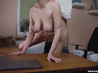 MarVal-I fucked with my boss in his office and he cum inside