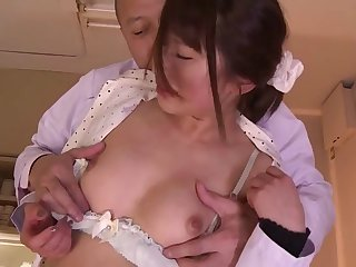 Slender and sexy Japanese girl fucked and taking cumshots