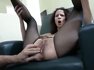 Ride A Milf Through Crotchless Pantyhose With Huge Drippy Creampie