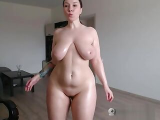 Big Tits, Huge fat booty CamGirl tease (AnnieJoy) #3