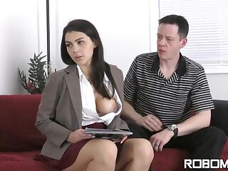 Sexy business lady, Valentina Nappi likes to get fucked very hard, even during her working hours