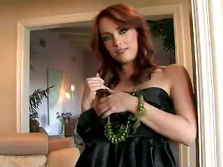 Lovely redhead Dani Jensen Brutally Fingers Her Pink Shaved Pussy