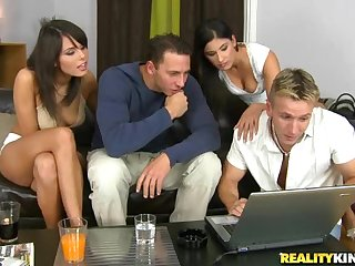 Amazing Group Sex Orgy With Diana Sweet And Melanie Memphis