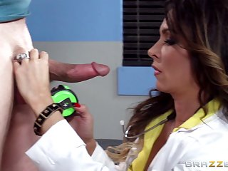 Doctor insists the hard cock patient fuck her slutty cunt