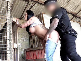 Farmer's Slut Fucks Cop's Truncheon