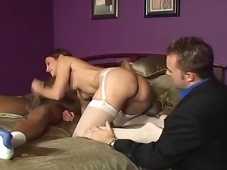 gorgeous Amber Rayne gets fucked hard by Black guy