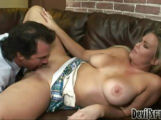 Abbey Brooks the horny blonde gets fucked by stepfather