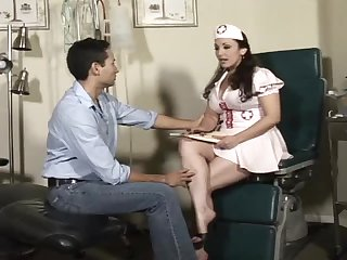 Jewell Marceau the hot nurse fucks a guy with strap on